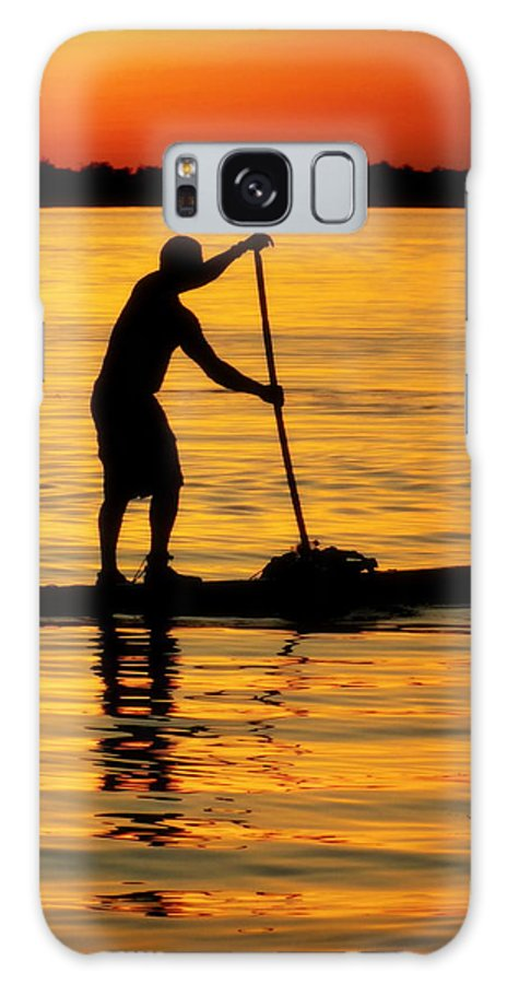 Paddle Boarding Galaxy S8 Case featuring the photograph Alone With The Sun by Karen Wiles