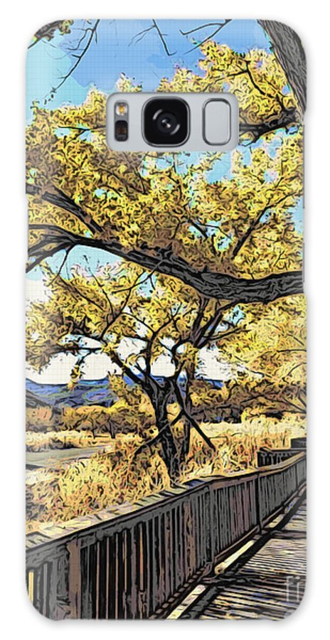 Boardwalk Galaxy S8 Case featuring the photograph Along The Path by Jacklyn Duryea Fraizer