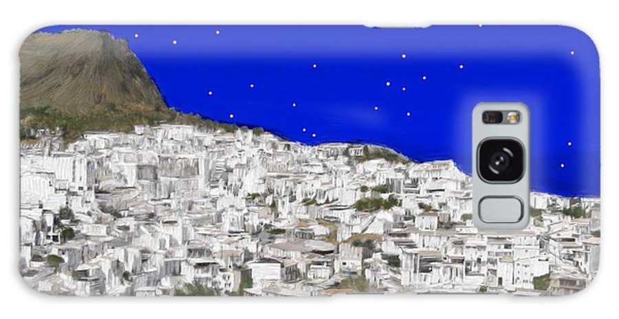 Alora Galaxy S8 Case featuring the painting Alora Malaga Spain At Twilight by Bruce Nutting