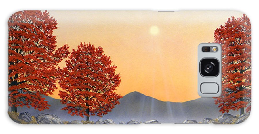 Mountains Galaxy Case featuring the painting Alpine Meadow II by Frank Wilson