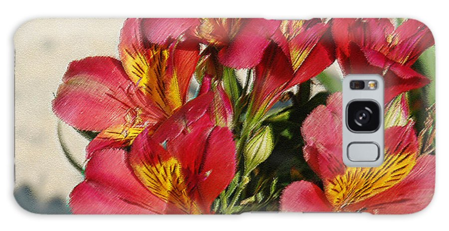 Alstroemeria Galaxy S8 Case featuring the photograph Alstroemeria In Pastel by Suzanne Gaff