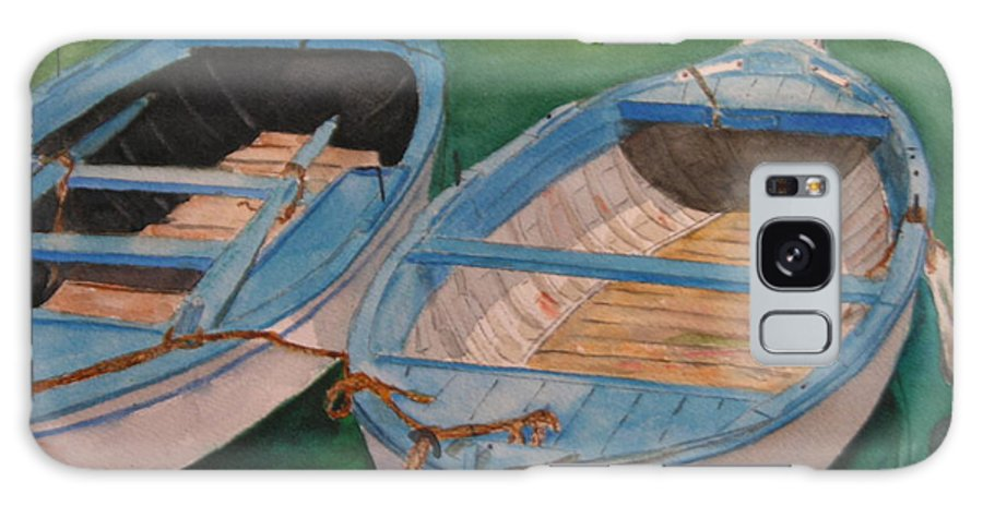 Italy Galaxy S8 Case featuring the painting Amalfi Boats by Peggy Dickerson