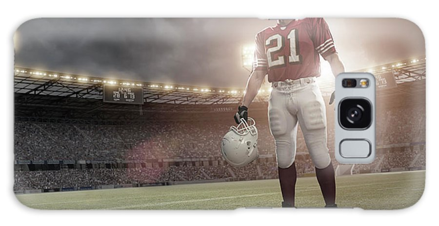 Sports Helmet Galaxy Case featuring the photograph American Football Hero by Peepo