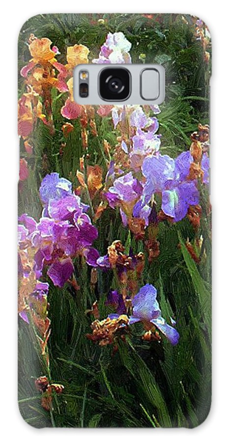 Flowers. Garden Galaxy S8 Case featuring the painting American Giverny by RC DeWinter