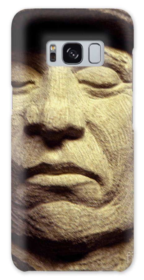 American Indians Galaxy S8 Case featuring the sculpture American-indian-portrait 2 by Gordon Punt
