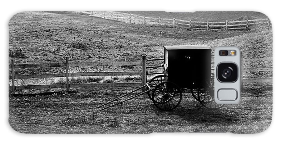 Amish Galaxy S8 Case featuring the photograph Amish Buggy by Kathleen Struckle
