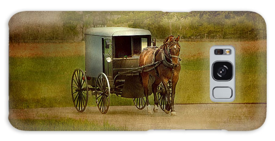 Amish Galaxy S8 Case featuring the photograph Amish Buggy Ride by Dyle  Warren