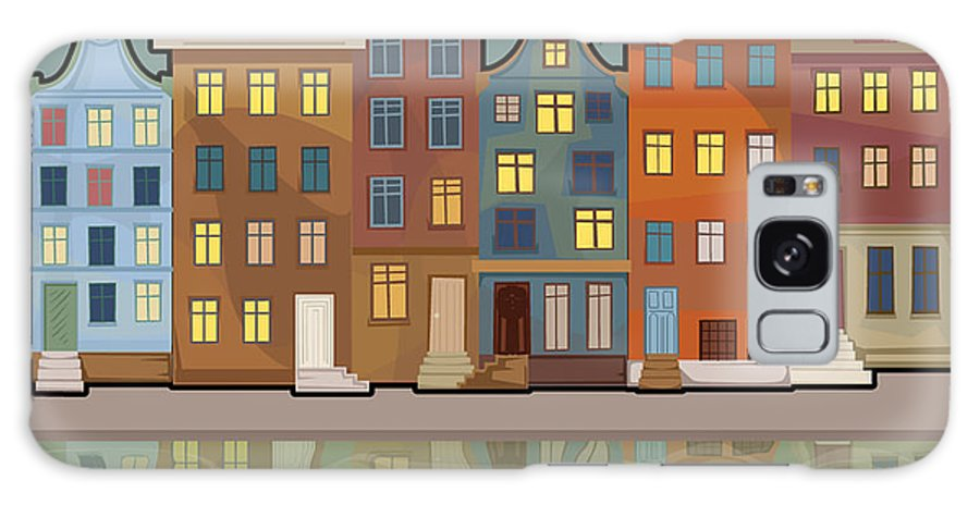 Symbol Galaxy S8 Case featuring the digital art Amsterdam City With Reflections In A by Marijapiliponyte