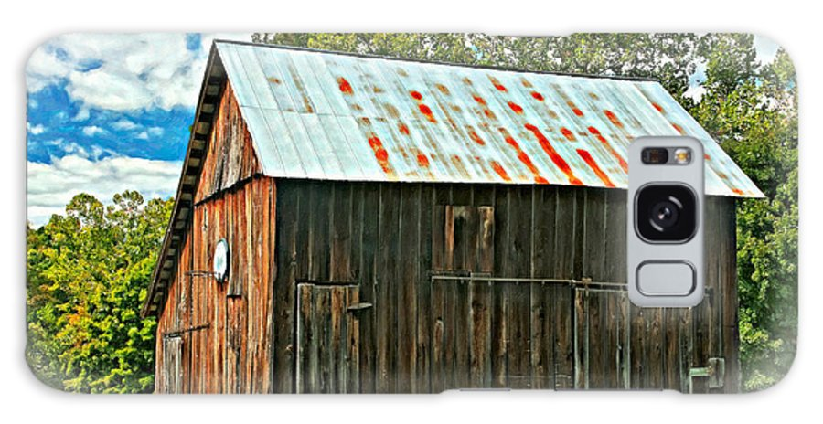 Barn Galaxy S8 Case featuring the photograph An American Barn 2 Oil by Steve Harrington