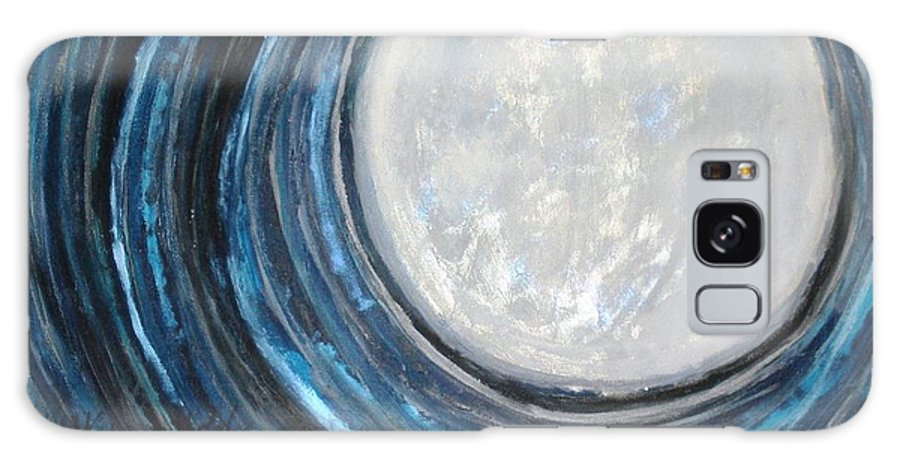 Moon Galaxy S8 Case featuring the painting An Apparition Of The Moon by T Byron K