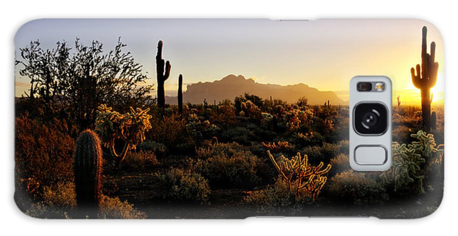 Sunrise Galaxy S8 Case featuring the photograph An Arizona Morning by Saija Lehtonen