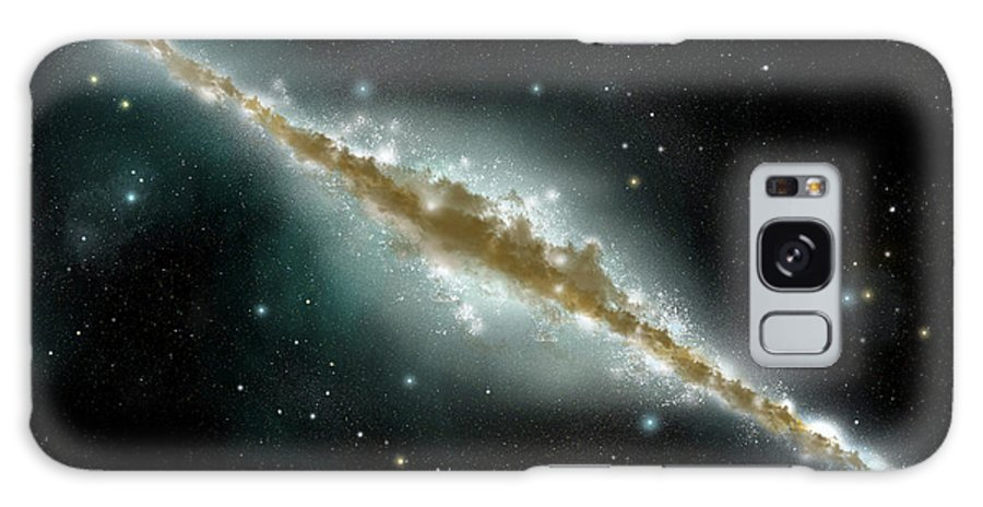 Dust Galaxy Case featuring the digital art An Artists Depiction Of A Large Spiral by Marc Ward/stocktrek Images