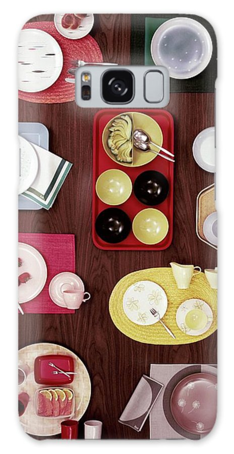Home Accessories Galaxy S8 Case featuring the photograph An Assortment Of Dinnerware by Tom Yee