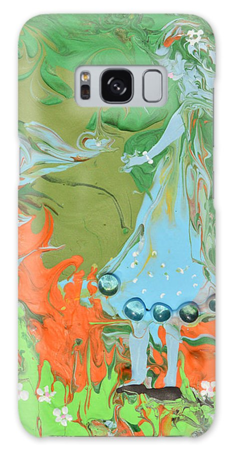 Modern Galaxy S8 Case featuring the painting An Elf In Wonderland by Donna Blackhall