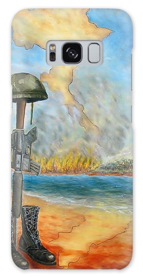 Vietnam Galaxy S8 Case featuring the painting An Honorarium by Affordable Art Halsey