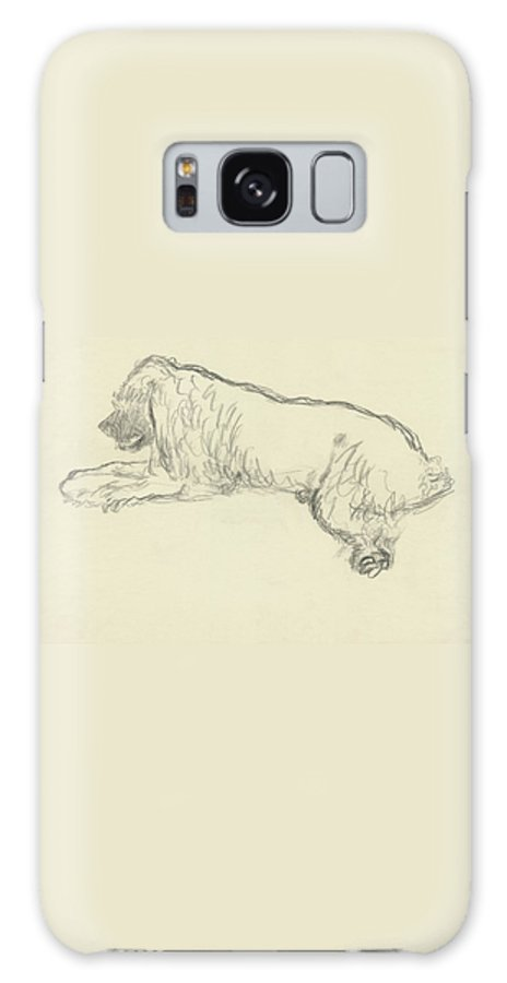Illustration Galaxy S8 Case featuring the digital art An Illustration Of A Dog by Carl Oscar August Erickson