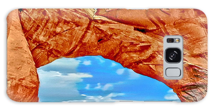 Arches Galaxy S8 Case featuring the painting An Impression Of Arches National Park by Bob and Nadine Johnston