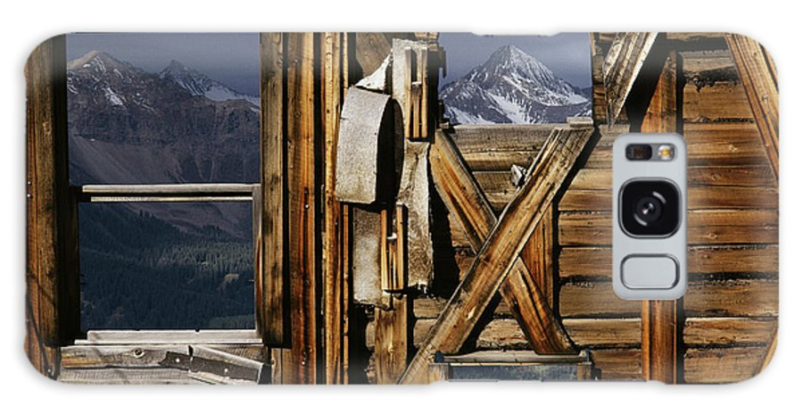 Wood Galaxy S8 Case featuring the photograph An Old Miners Shack With A View by Gordon Wiltsie