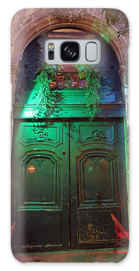 Paris Galaxy S8 Case featuring the photograph An Old Ornate Wooden Door In Paris France by Richard Rosenshein