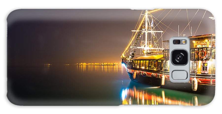 Pirates Galaxy S8 Case featuring the photograph an Old Pirate Ship by Sotiris Filippou