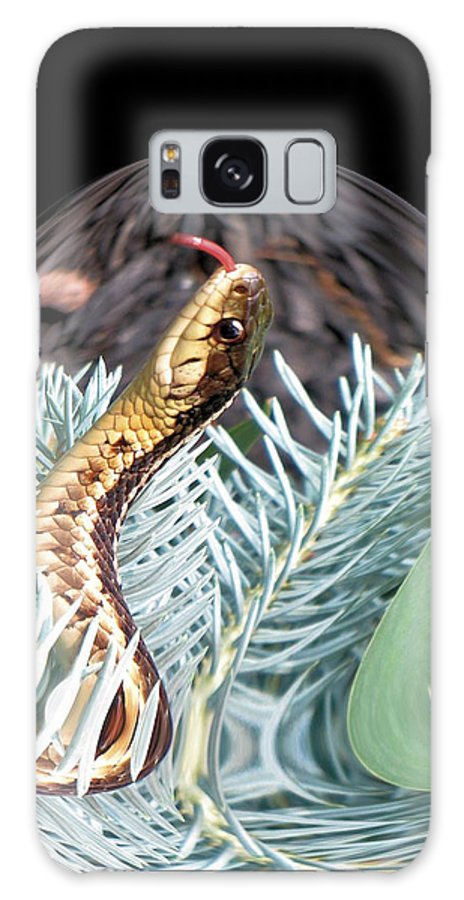 Garter Snake Galaxy S8 Case featuring the digital art An Uncommon Garter Snake by TailSpin Artworks