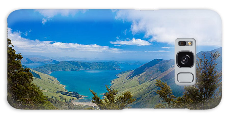 Captain Cook Galaxy S8 Case featuring the photograph Anakoha Bay Of Marlborough Sounds In New Zealand by Stephan Pietzko