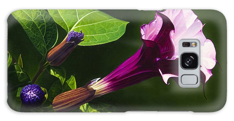Floral Galaxy Case featuring the painting Anastacias Datura by Gary Hernandez