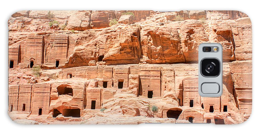 Petra Galaxy S8 Case featuring the photograph Ancient Dwellings At Petra by David Birchall