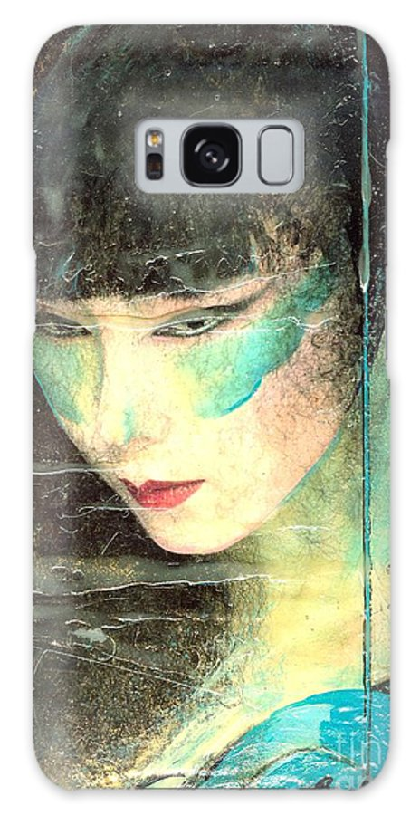 Oriental Galaxy S8 Case featuring the painting And She Waits by Barbara Lemley