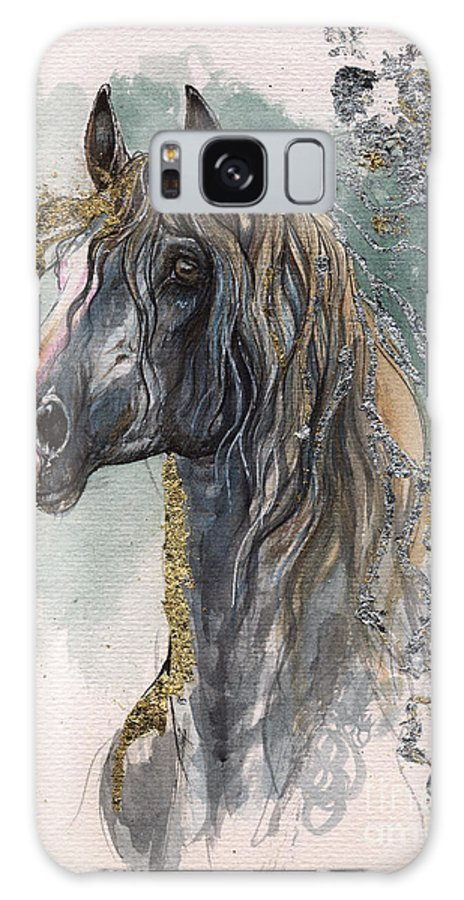 Horse Galaxy S8 Case featuring the painting Andalusian Horse 2014 11 11 by Angel Ciesniarska