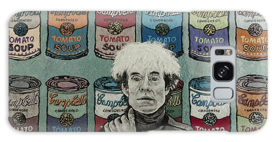 Andy Warhol Galaxy S8 Case featuring the mixed media Andy Warhol by Heidi Hooper