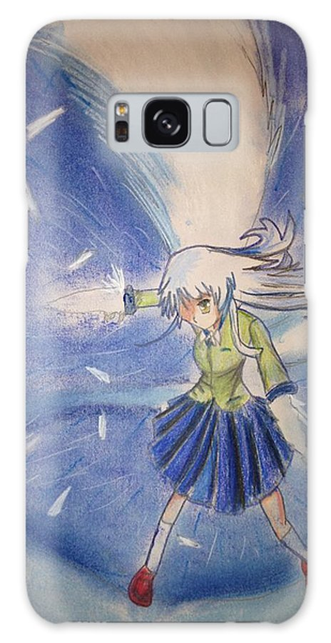 Anime Galaxy S8 Case featuring the pastel Angel Beats by Louis Preston