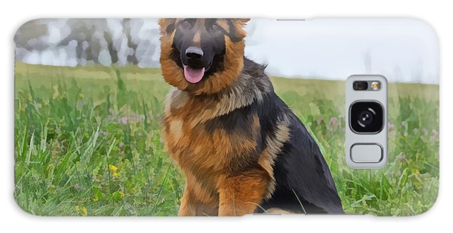 German Shepherd Galaxy S8 Case featuring the photograph Angel II by Sandy Keeton