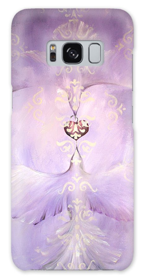 Birds Galaxy S8 Case featuring the painting Angelic Cropped Version by Dina Dargo