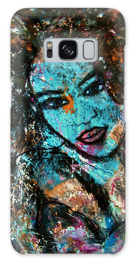 Female Galaxy S8 Case featuring the painting Angelica by Natalie Holland