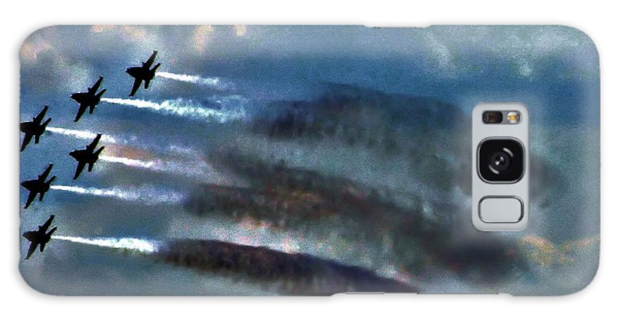 Airplanes Galaxy S8 Case featuring the photograph Angels Inna Clouds by Robert McCubbin