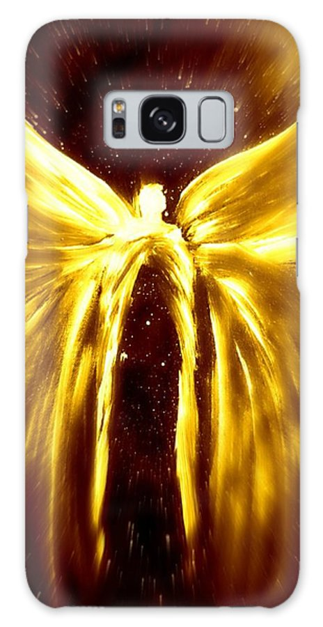 Golden Light Galaxy S8 Case featuring the digital art Angels Of The Golden Light Anscension by Alma Yamazaki
