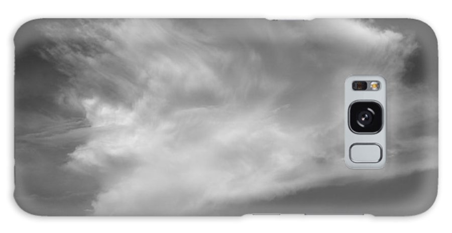 Angel�� Wing�� Cloud ��sky��peaceful Nature Lanscape Black White Galaxy S8 Case featuring the photograph Angel's Wing. by Juan Jiang