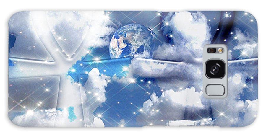 Ankh Galaxy S8 Case featuring the digital art Ankh Unity by Mynzah Osiris