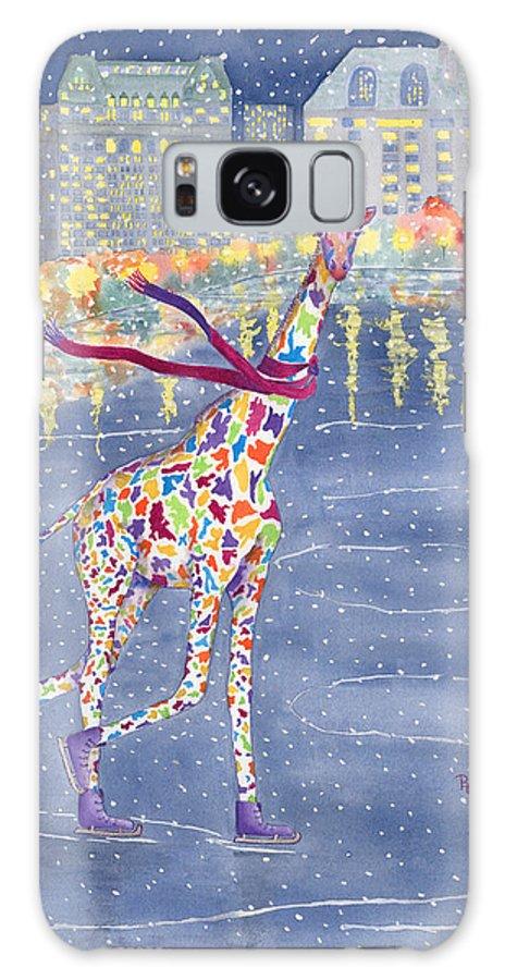 Giraffe Galaxy Case featuring the painting Annabelle On Ice by Rhonda Leonard