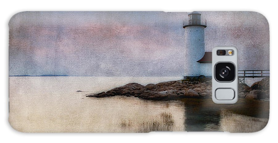 Annisquam Galaxy S8 Case featuring the photograph Annisquam Harbor Lighthouse by Jerry Fornarotto