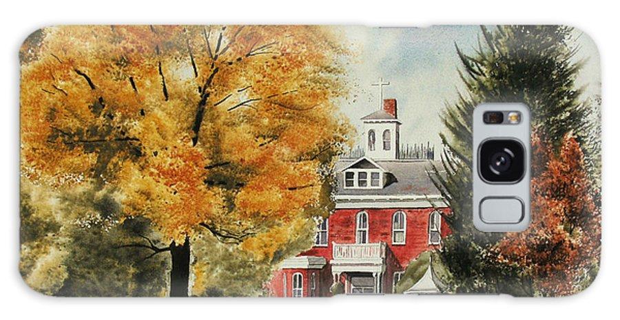 Antebellum Autumn Ironton Missouri Galaxy S8 Case featuring the painting Antebellum Autumn Ironton Missouri by Kip DeVore