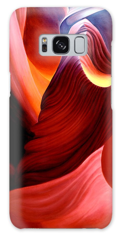 Antelope Canyon Galaxy S8 Case featuring the painting Antelope Magic by Anni Adkins