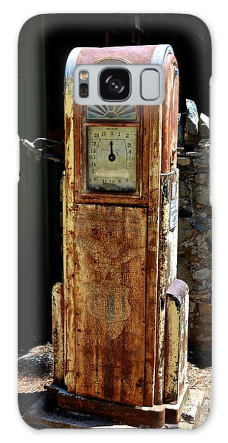 Gas Galaxy S8 Case featuring the photograph Antique Gas Pump by William Hallett