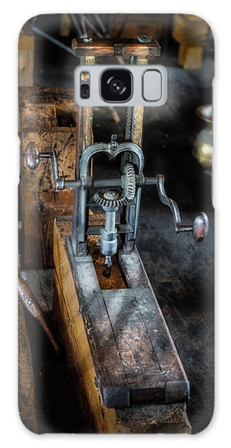 Machine Galaxy S8 Case featuring the photograph Antique Mortising Machine by Paul Freidlund