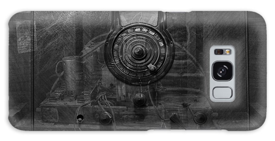 Radio Galaxy S8 Case featuring the photograph Antique Philco Radio Model 37 116 Bw Merge by Thomas Woolworth