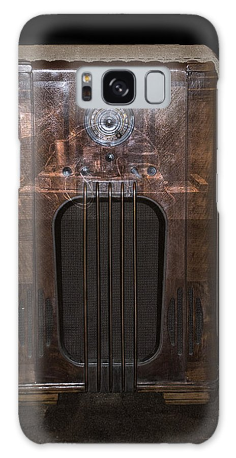 Radio Galaxy S8 Case featuring the photograph Antique Philco Radio Model 37 116 Merged V by Thomas Woolworth