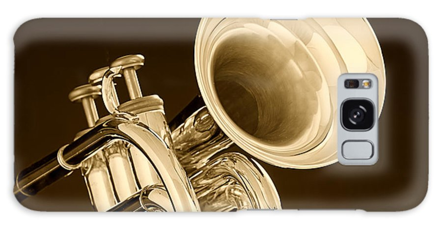 Cornet Galaxy S8 Case featuring the photograph Antique Trumpet by M K Miller