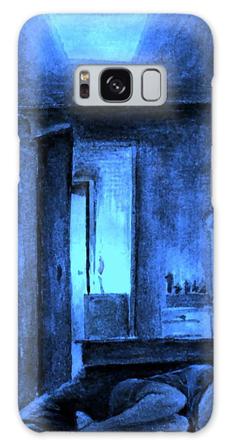 Suffering Galaxy S8 Case featuring the painting Apocalypsis 2001 Or Abandoned Soul by Mikhail Savchenko