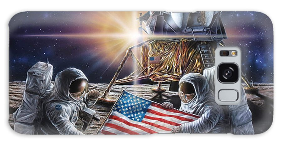 Space Galaxy S8 Case featuring the painting Apollo 11 by Don Dixon